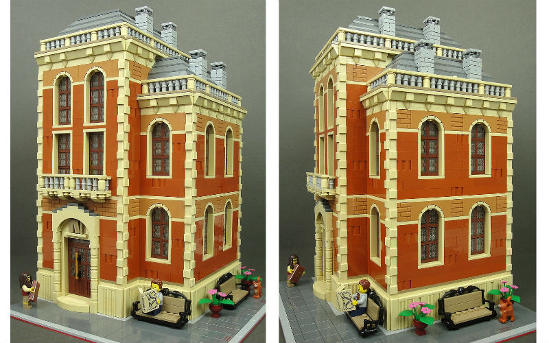 lego moc old library