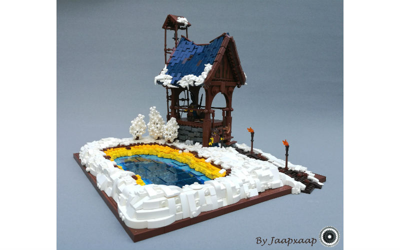 lego winter lake moc