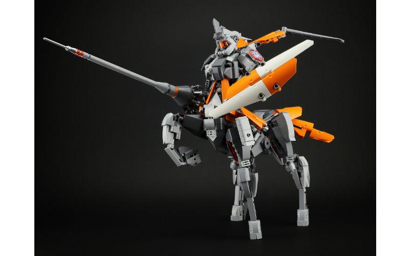 LEGO centaur knight mech
