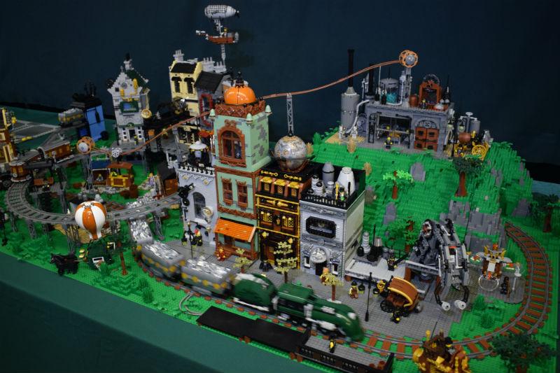 lego steampunk town