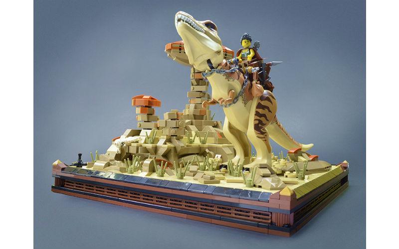 lego moc dinosaur