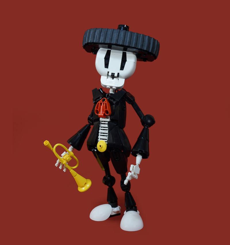 lego figures music moc