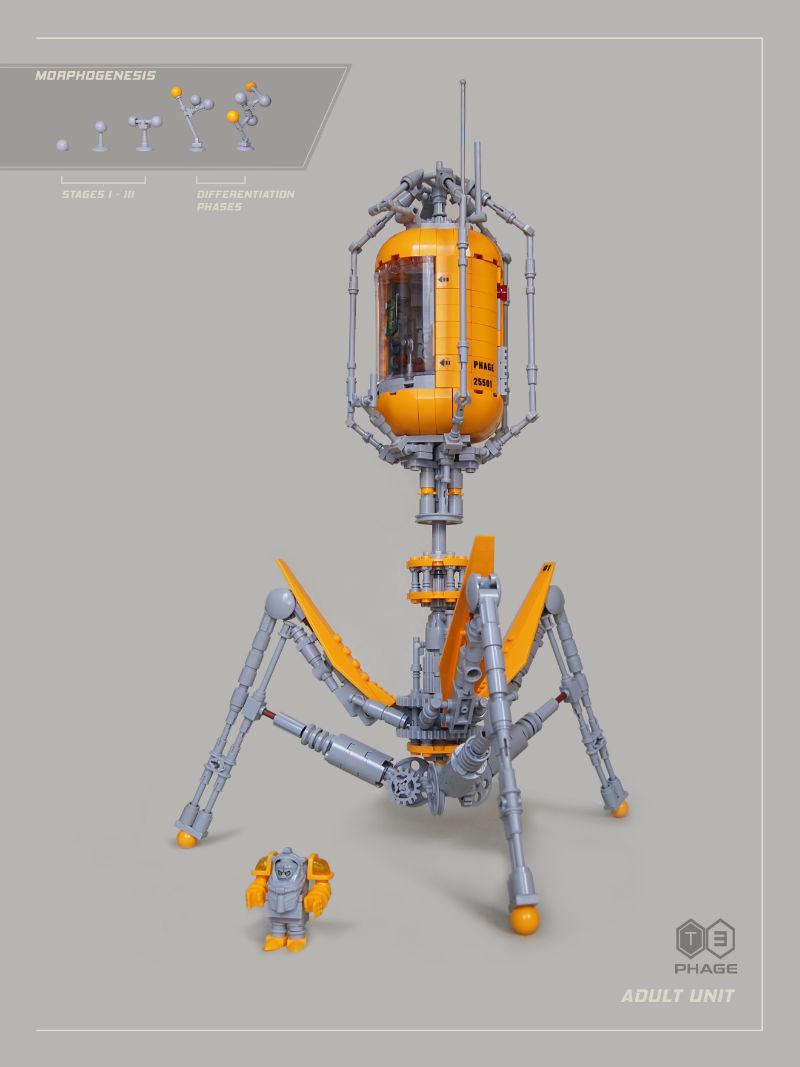bacteriophage lego moc