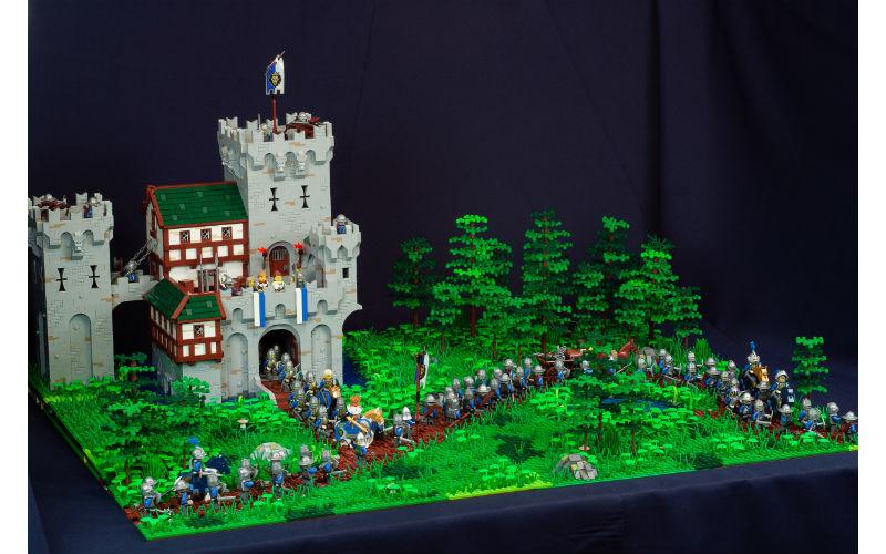 лего саморобка замок