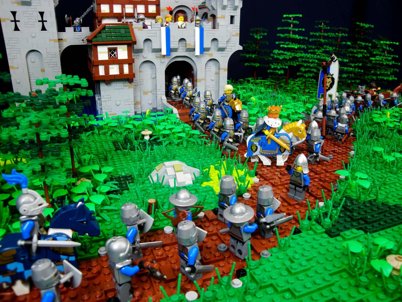 lego moc medieval castle