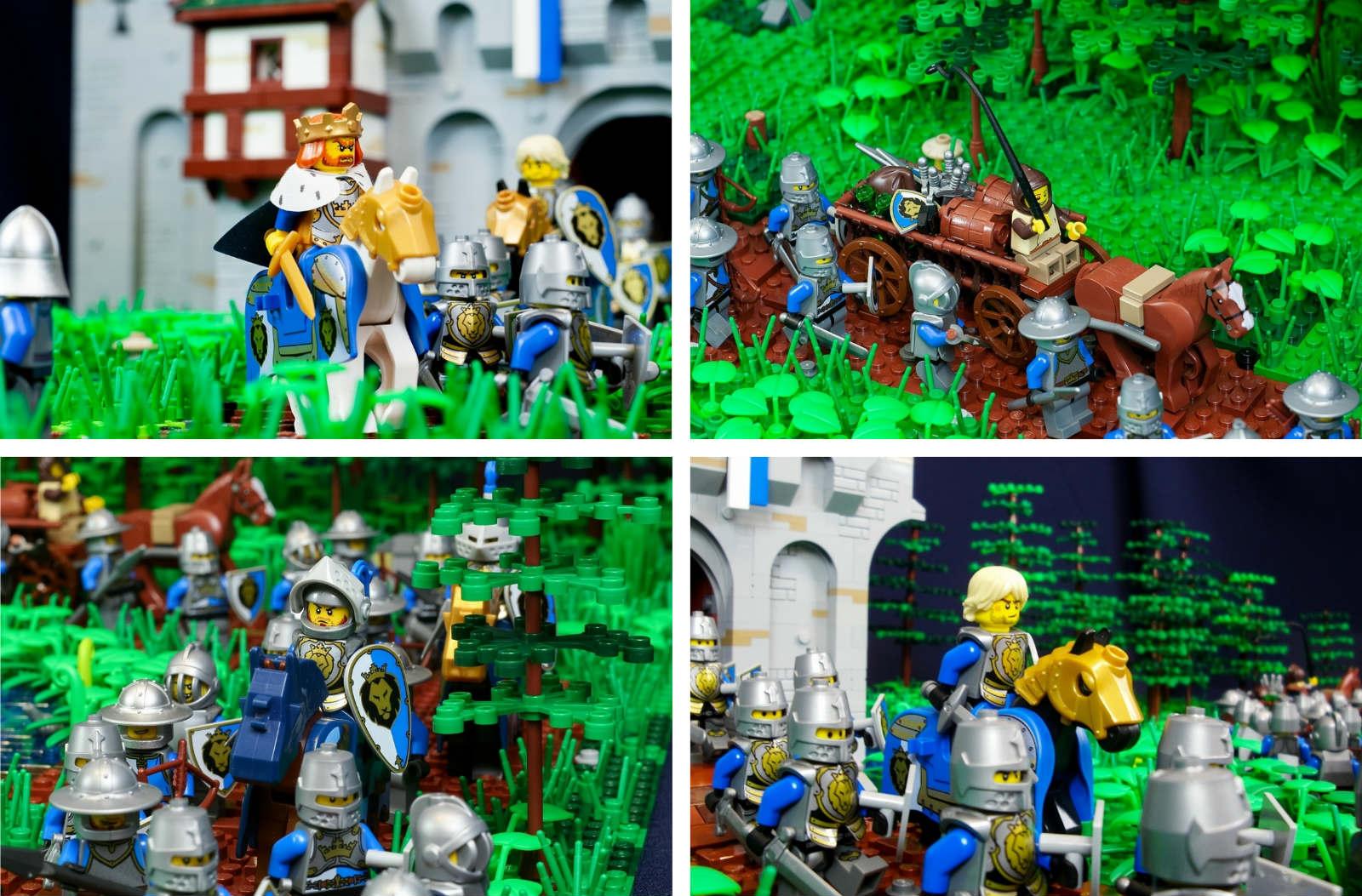 саморобка лего фортеця лицарі
