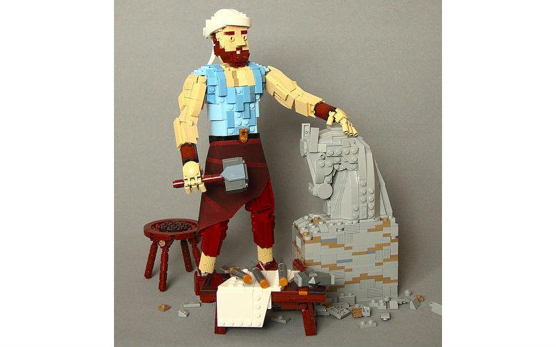 lego самоделка скульптор
