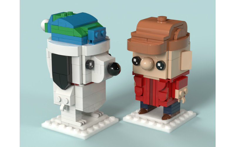 Charlie Brown Christmas BrickHeadz - MOC